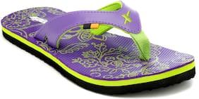 Sparx Women Purple Flipflops