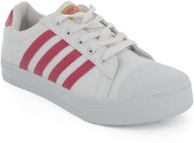 Sparx Women White & Pink Casual Shoes