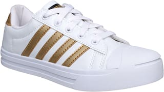 Sparx Women SL-111 White Gold Casual Shoes