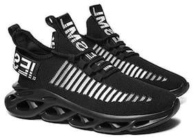 HEY MEN Men Running Shoes ( Black )