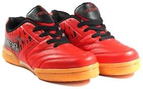 Sportskraft Men Non Marking Badminton/Squash Shoes (Red)