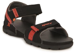 0e9e510d71 Buy Sparx Men Black Sandals   Floaters Online at Low Prices in India ...