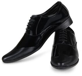 Steemo Black Genuine Patent leather Shoes