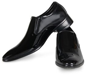 Steemo Black Genuine Patent leather