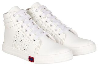 Steemo Women White Sneakers