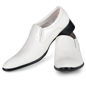 Steemo White Genuine Patent leather