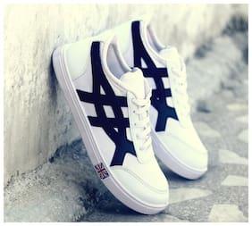 STEPFIT Men White Sneakers