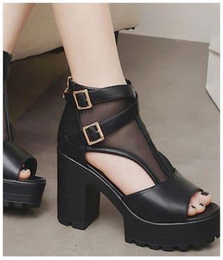 Street Style Store Black Block Heels