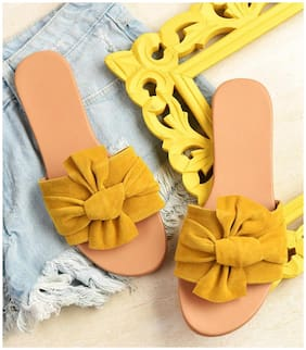 STREETSTYLESTORE Women Yellow One Toe Flats