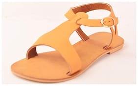 STREETSTYLESTORE Women Tan s & Sandals