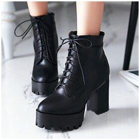 STREETSTYLESTORE Women Black Boot