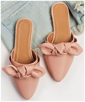 STREETSTYLESTORE Synthetic Pink Flats & Sandals For Women