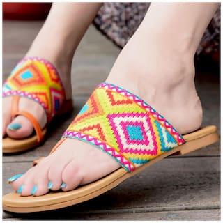 STREETSTYLESTORE Women Multicolor Flats & Sandals