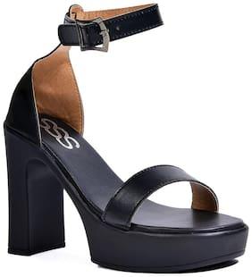 StreetStyleStore Black Block Heels