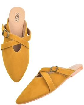 Streetstylestore Women Synthetic Yellow Color Flats And Sandals