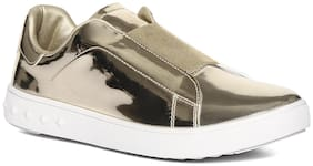 Stride Women Gold Slip-On Shoes