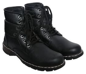 Style Height Men's Black Ankle Boots