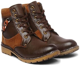 Style Height Men Brown Ankle Boots