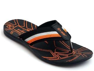 SVAAR Men Black Outdoor Slippers