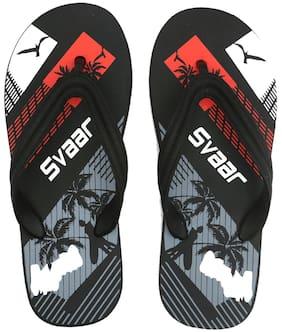 SVAAR Men Black Flip-Flops