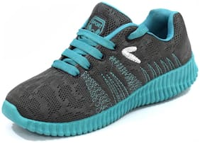 Svaar Grey and Green Running Sports Shoes