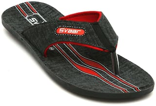 Svaar Grey and Red Slippers