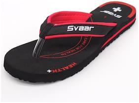 Svaar Health Plus + Slippers for Women - Black/Red