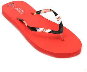 Imported Red Women's Slippers & Flip flops