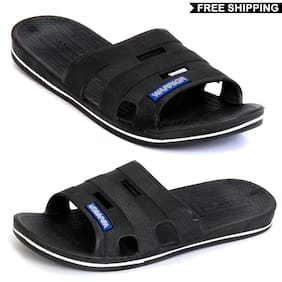 Svaar Men Slippers-Black