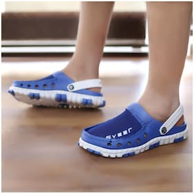 SVAAR Men Blue Clogs