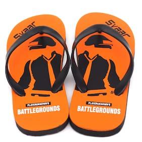 SVAAR Men Orange & Black Outdoor Slippers