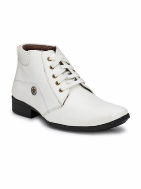 Swag Onn Men White Boot - Ak-8-white