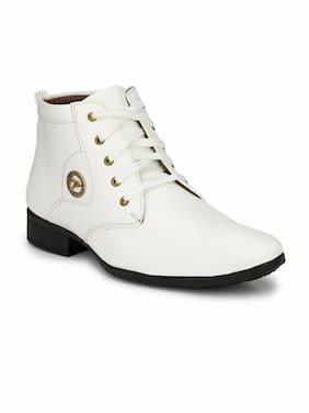 Swag Onn Men White Boot - Ak-9-white
