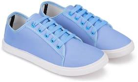 Women Solid Sneakers ( Blue )