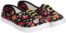 Women Floral Loafers ( Pink )