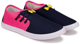 Women Solid Loafers ( Navy Blue )