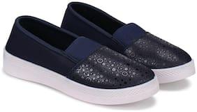 Swiggy Women Navy Blue Loafers