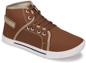 Sneakers Shoes For Men ( Brown )