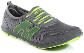 Sparx Women's Grey & Green Running Shoes (SL-73)