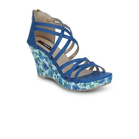 Get Glamr Blue Wedges