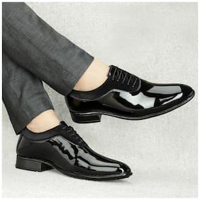 T R Men Black Derby Formal Shoes - DU-1501-BLACK-7