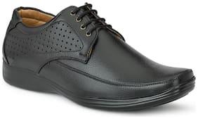 T R Men Black Derby Formal Shoes - DU-1506-BLACK-8