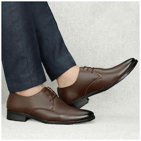 T R Men Brown Derby Formal Shoes - DU-1503-BROWN-6