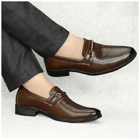 T R Men Brown Derby Formal Shoes - DU-1502-BROWN-9
