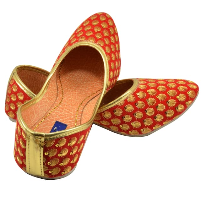 Tamanna Handicraft Designer Dotted Orange Juti
