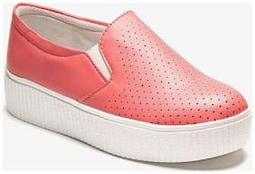 TEN Women Orange Casual Shoes