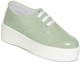 TEN Women Green Casual Shoes