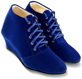 TEQTO Women Blue Ankle Length Boots