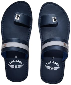 THE BABA Indoor Slippers For Men ( Blue )
