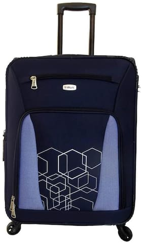 Timus Morocco Spinner Blue Check In 65 Cm 4 Wheel Strolley Suitcase